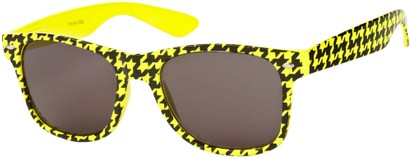 Angle of SW Retro Houndstooth Style #8904 in Yellow Frame, Women's and Men's