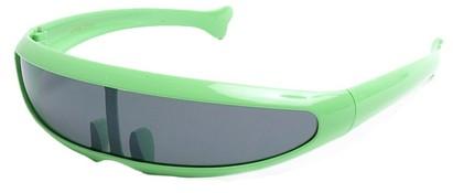 Angle of SW Funky Retro Style #8848 in Green Frame, Women's and Men's