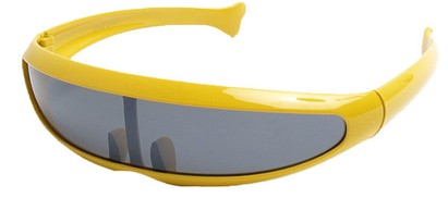 Angle of SW Funky Retro Style #8848 in Yellow Frame, Women's and Men's
