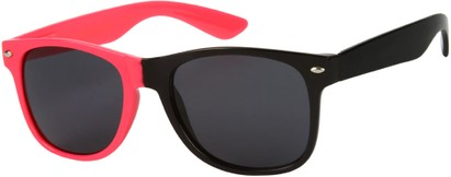 Angle of SW Two-Tone Retro Style #1892 in Neon Pink/Black Frame, Women's and Men's