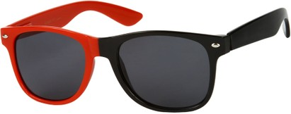 Angle of SW Two-Tone Retro Style #1892 in Red/Black Frame, Women's and Men's