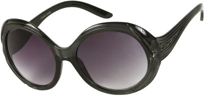 Angle of SW Round Style #3498 in Grey Frame with Smoke Lenses, Women's and Men's