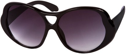 Angle of SW Oversized Style #15032 in Solid Black Frame, Women's and Men's