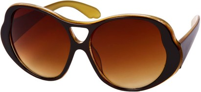 Angle of SW Oversized Style #15032 in Black/Yellow Frame, Women's and Men's