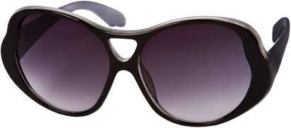 Angle of SW Oversized Style #15032 in Black/Grey Frame, Women's and Men's