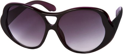 Angle of SW Oversized Style #15032 in Black/Purple Frame, Women's and Men's