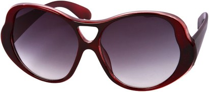 Angle of SW Oversized Style #15032 in Red/Pink Frame, Women's and Men's