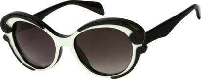 Angle of SW Fashion Style #459 in Black/Cream Frame, Women's and Men's