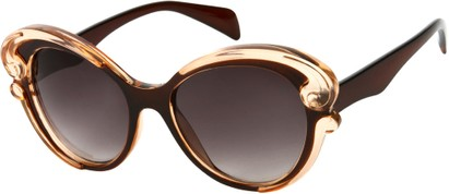 Angle of SW Fashion Style #459 in Brown/Clear Frame, Women's and Men's