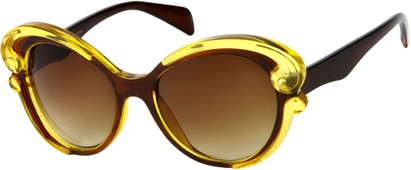 Angle of SW Fashion Style #459 in Brown/Yellow Frame, Women's and Men's