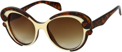 Angle of SW Fashion Style #459 in Brown Tortoise/Cream Frame, Women's and Men's