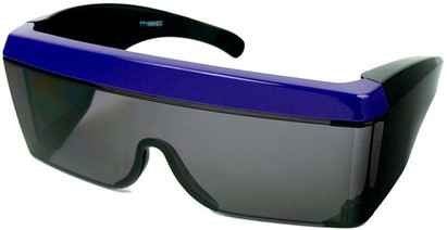 Angle of SW Celebrity Shield Style #813 in Purple Frame, Women's and Men's