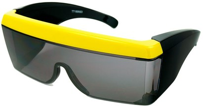 Angle of SW Celebrity Shield Style #813 in Yellow Frame, Women's and Men's