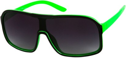 Angle of SW Shield Style #779 in Black/Green, Women's and Men's