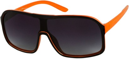 Angle of SW Shield Style #779 in Black/Orange, Women's and Men's