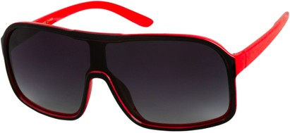 Angle of SW Shield Style #779 in Black/Red, Women's and Men's