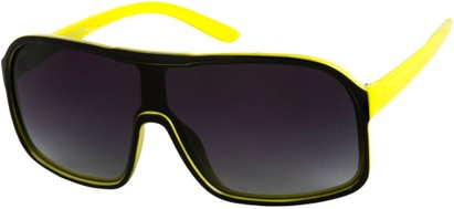 Angle of SW Shield Style #779 in Black/Yellow, Women's and Men's