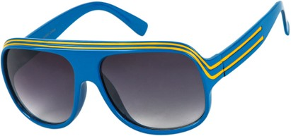 Angle of SW Celebrity Style #1960 in Blue/Yellow Frame, Women's and Men's