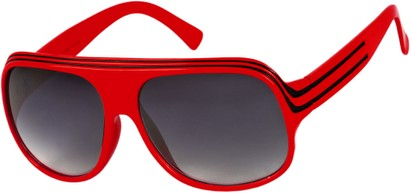 Angle of SW Celebrity Style #1960 in Bright Red and White Frame, Women's and Men's