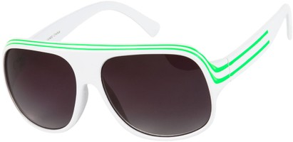 Angle of SW Celebrity Style #1960 in White/Green Frame, Women's and Men's