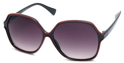 Angle of SW Oversized Style #9809 in Red and Black Frame, Women's and Men's