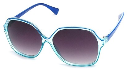Angle of SW Oversized Style #9809 in Blue Frame, Women's and Men's
