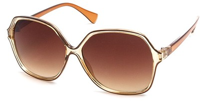 Angle of SW Oversized Style #9809 in Brown Frame, Women's and Men's