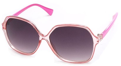Angle of SW Oversized Style #9809 in Pink Frame, Women's and Men's