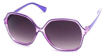 Angle of SW Oversized Style #9809 in Purple Frame, Women's and Men's