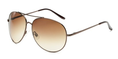 Angle of Trooper #1219 in Bronze Frame with Amber Lenses, Women's and Men's Aviator Sunglasses