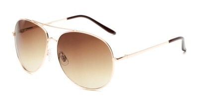 Angle of Trooper #1219 in Gold Frame with Amber Lenses, Women's and Men's Aviator Sunglasses