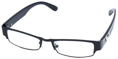 Angle of SW Clear Style #2901 in Black Frame, Women's and Men's