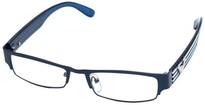 Angle of SW Clear Style #2901 in Dark Blue Frame, Women's and Men's