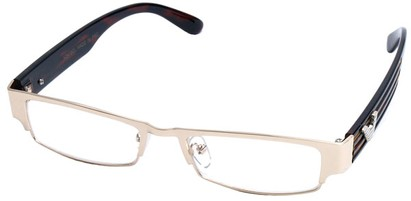 Angle of SW Clear Style #2901 in Gold Frame, Women's and Men's