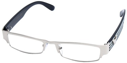 Angle of SW Clear Style #2901 in Silver Frame, Women's and Men's