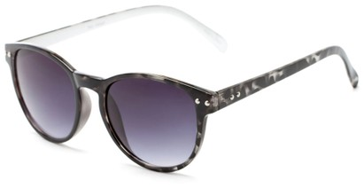 Angle of Darby #1029 in Grey Tortoise Frame with Grey Lenses, Women's and Men's Retro Square Sunglasses