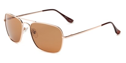 Angle of Voyager #790 in Gold Frame with Amber Lenses, Women's and Men's Aviator Sunglasses