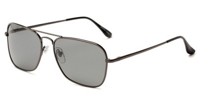 Angle of Voyager #790 in Grey Frame with Smoke Lenses, Women's and Men's Aviator Sunglasses