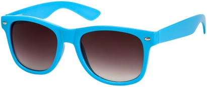 Angle of SW Neon Retro Style #1670 in Blue Frame, Women's and Men's