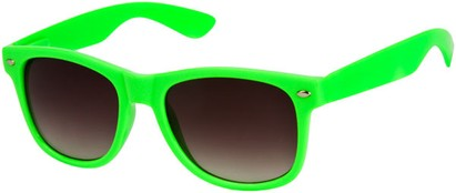 Angle of SW Neon Retro Style #1670 in Lime Green Frame, Women's and Men's