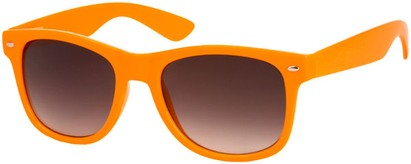 Angle of SW Neon Retro Style #1670 in Orange Frame, Women's and Men's