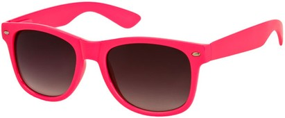 Angle of SW Neon Retro Style #1670 in Hot Pink Frame, Women's and Men's
