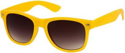 Angle of SW Neon Retro Style #1670 in Yellow Frame, Women's and Men's