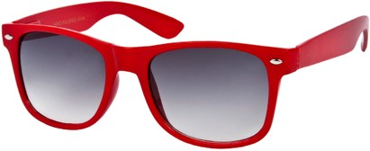 Angle of SW Neon Retro Style #1670 in Red Frame, Women's and Men's