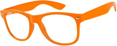 Angle of SW Clear Retro Style #5011 in Citrus Orange, Women's and Men's