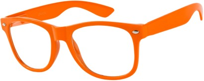 Angle of SW Clear Retro Style #5011 in Dark Orange, Women's and Men's