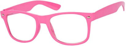 Angle of SW Clear Retro Style #5011 in Pink Frame, Women's and Men's