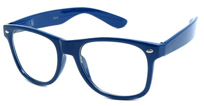 Angle of SW Clear Retro Style #5011 in Blue Frame, Women's and Men's