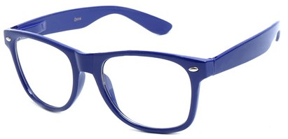 Angle of SW Clear Retro Style #5011 in Purple Frame, Women's and Men's