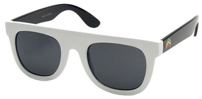 Angle of SW Style #43 in White and Black Frame, Women's and Men's
